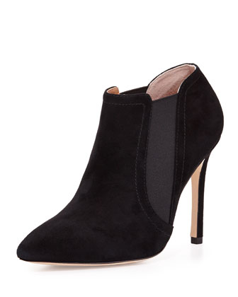 Wendy Suede Bootie, Black