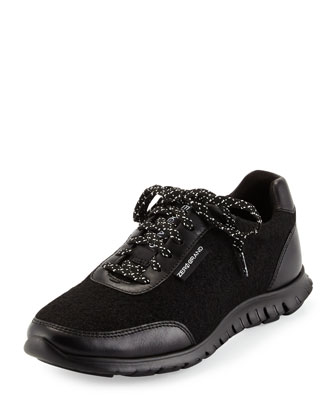 ZeroGrand™ Classic Lace-Up Sneaker, Black