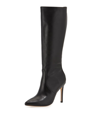 Amanda Leather Knee Boot, Black