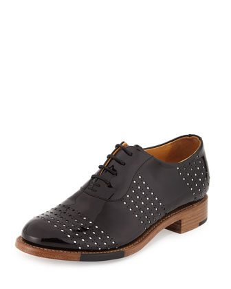 Mr. Smith Perforated Patent Oxford, Domino
