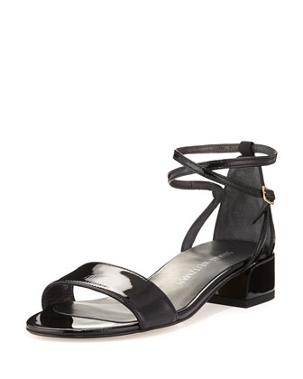 Peewee Patent City Sandal, Black