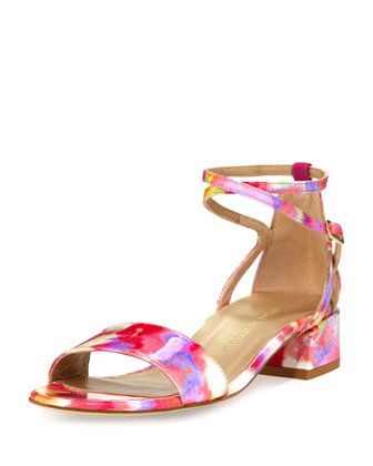 Peewee Patent City Sandal, Rose