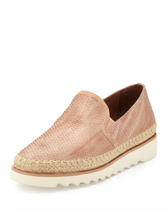 Millie Leather Slip-On Sneaker, Blush