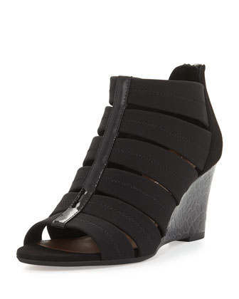 Jada Stretch Wedge Sandal, Black