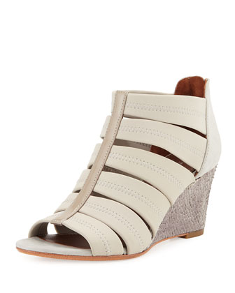 Jada Stretch Wedge Sandal, Pumice