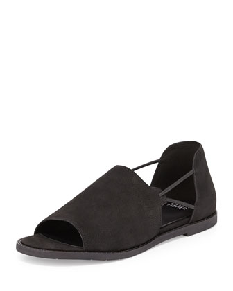 Spell Open-Toe d'Orsay Flat, Black