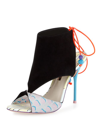 Bobbi Twisted High-Heel Sandal, Black