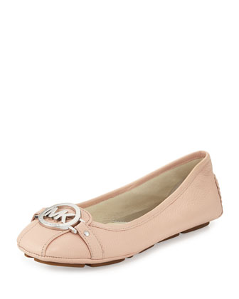 Fulton Tumbled Leather Moccasin, Ballet