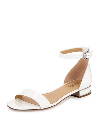 Joy Patent Flat Sandal, Optic White