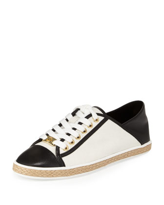 Kristy Lace-Up Low-Top Sneaker, Optic White
