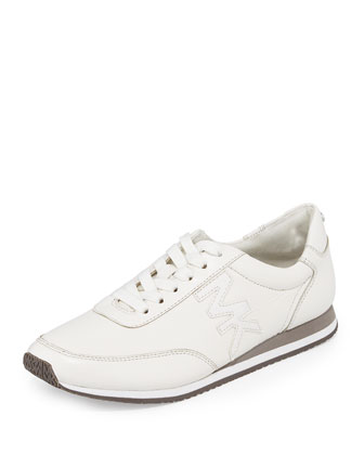 Stanton Leather Lace-Up Trainer, Optic White