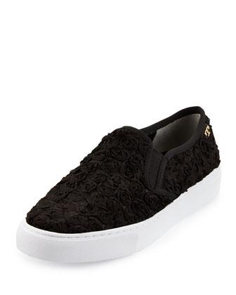 Rosette Slip-On Skate Sneaker, Black