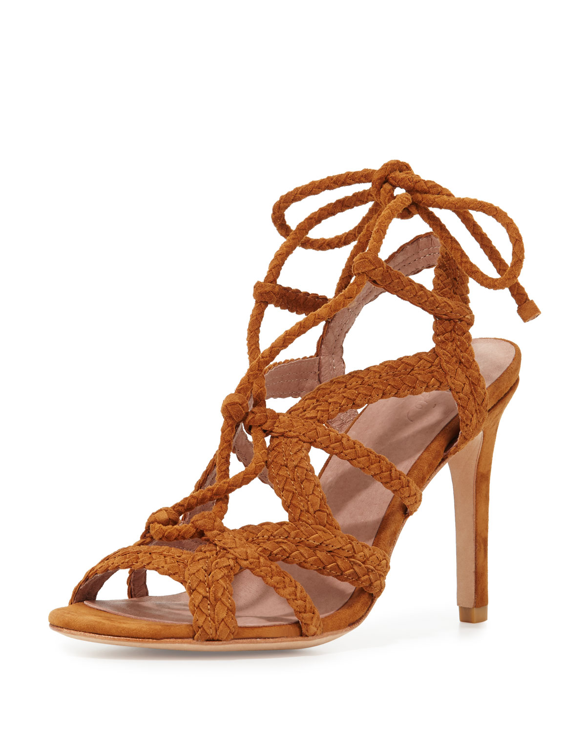 Tonni Suede Strappy Sandal, Whiskey, Size: 35.0B/5.0B - Joie