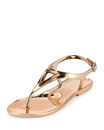Trifecta Metallic Jelly Sandal, Rose