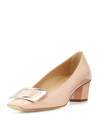 Decollete Belle Vivier Patent Pump, Nude