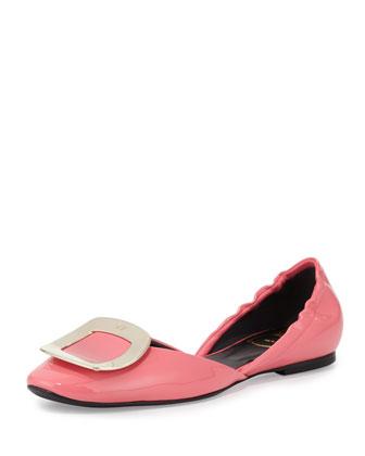Ballerine Chips d'Orsay Flat, Pink