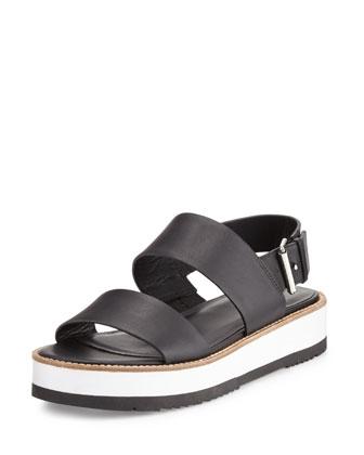 Mana Leather Slingback Sandal, Black