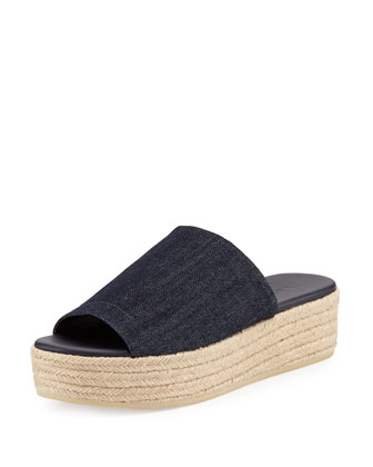 Solana Platform Espadrille Sandal, Dark Denim