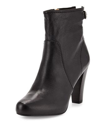 Marissa Short Leather Boot, Black