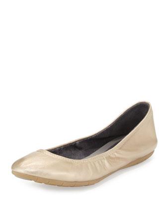 ZeroGrand™ Stagedoor Stud Ballerina Flat, Soft Gold