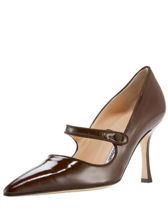 Patent Leather Mary Jane, Dark Brown