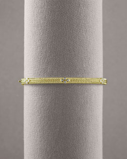 Judith Ripka Double Rope Diamond Bangle