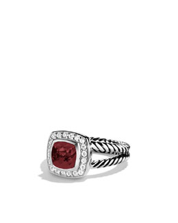 David Yurman Petite Albion Ring, Garnet