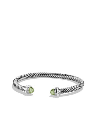 Cable Classics Bracelet with Prasiolite and Diamonds