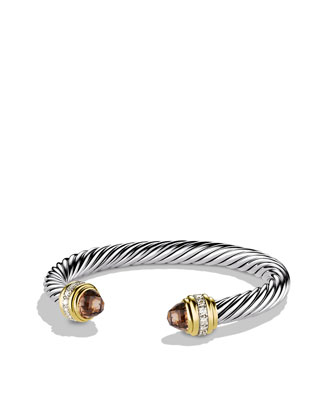 Cable Classics Bracelet with Smoky Quartz, Diamonds, and Gold