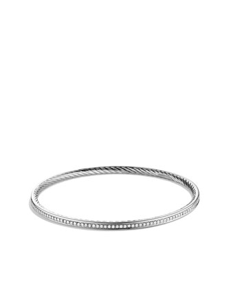Cable Classics Bangle with Diamonds