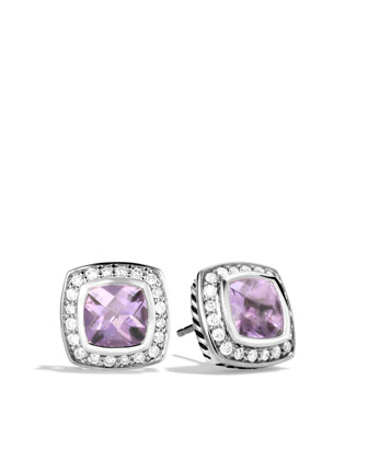 Petite Albion Earrings with Lavender Amethyst and Diamonds
