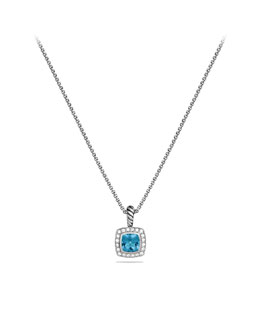 David Yurman 7mm Blue Topaz Petite Albion Necklace