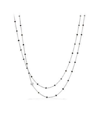 Chain Necklace with Black Spinel Beads