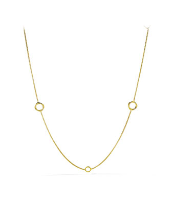 Infinity Station Necklace in Gold