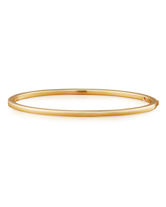 Oval Bangle, Yellow Gold
