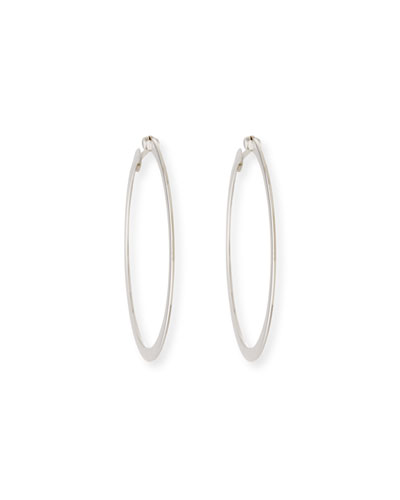 Roberto Coin White Gold Hoop Earrings