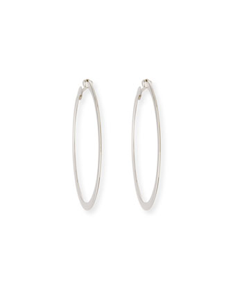White Gold Hoop Earrings