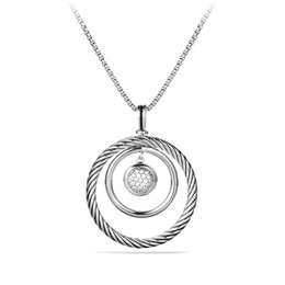 David Yurman Pave Spiral Cable Pendant