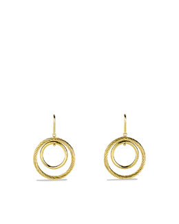David Yurman Mobile Spiral Hoop Earrings
