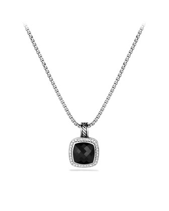 Albion Pendant with Black Onyx and Diamonds