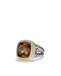 David Yurman Albion Ring, Smoky Quartz, 14mm