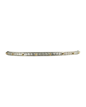 Astra Dot Silver & Gold Bangle