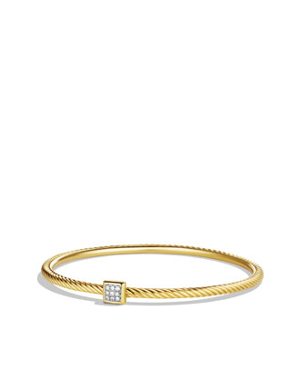 Confetti Bangle with Diamonds in Gold