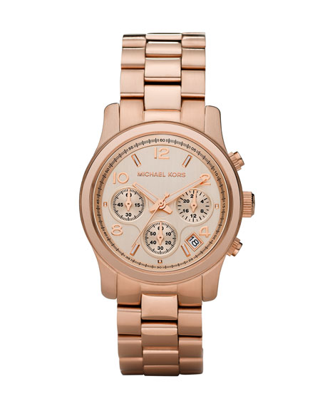 Rose Golden Runway Chronograph Watch