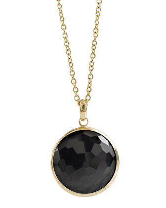 Onyx Lollipop-Pendant Necklace