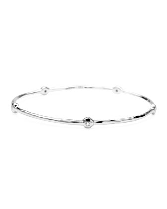 Sterling Silver 5-Diamond Bangle