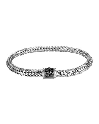 Extra Small Chain Bracelet w/ Black Sapphire Clasp