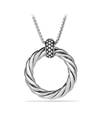 Cable Classics Large Pendant with Diamonds on Chain