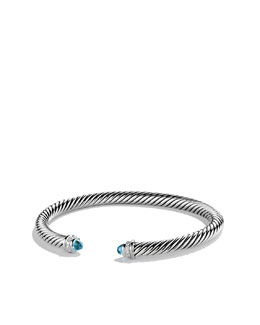 David Yurman Cable Classics Collection Bracelet, Blue Topaz, 5mm