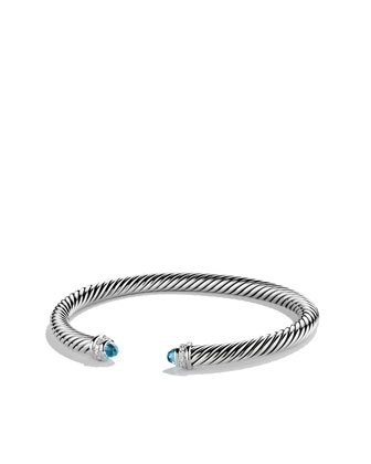 Cable Classics Bracelet with Blue Topaz and Diamonds